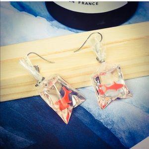 HP🎉Unique Acrylic Orange Koi Fish Dangle Earrings